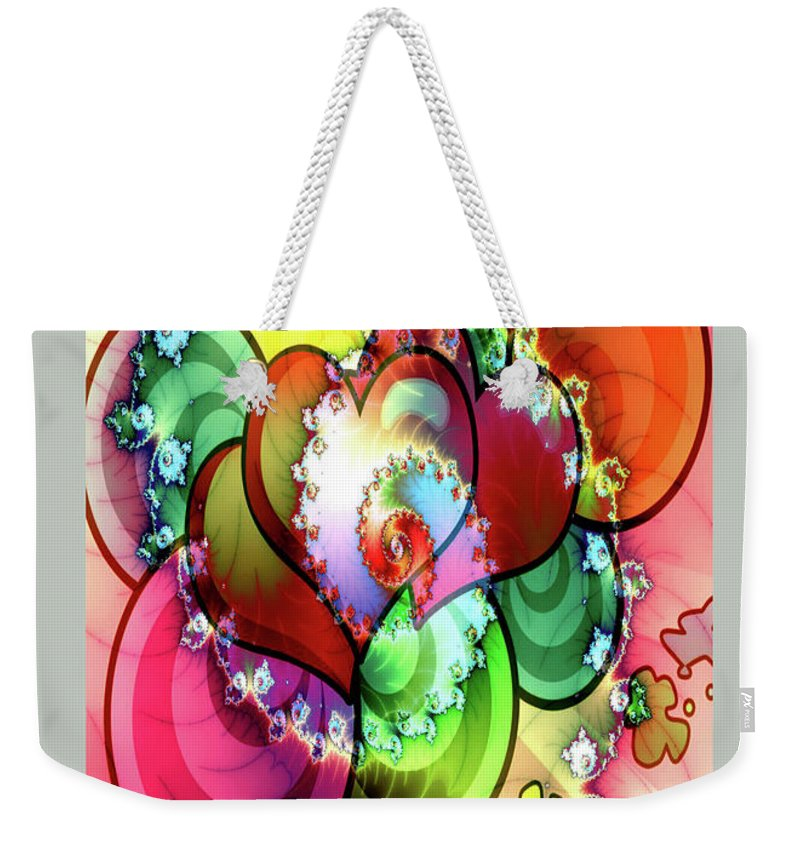 Greeting Cards Weekender Tote Bag featuring the digital art Colors Of Love by Mitchell Watrous