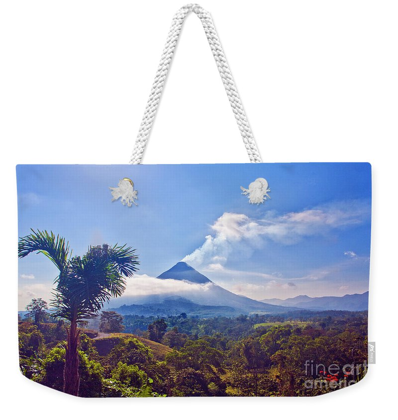 Volcano Weekender Tote Bag featuring the photograph Costa Rica Volcano by Madeline Ellis