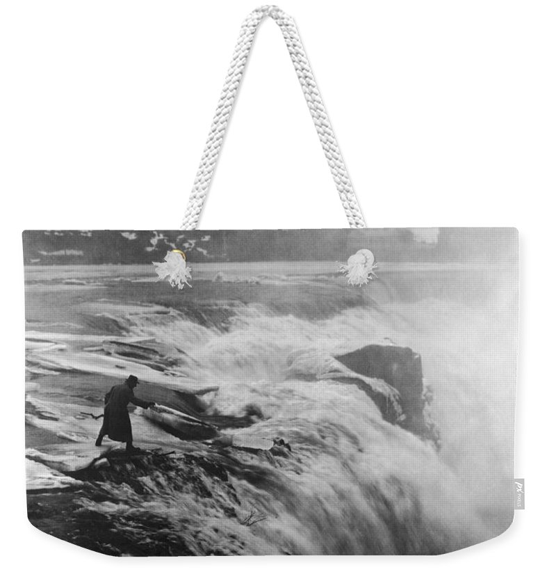 1920 Weekender Tote Bag featuring the photograph D.w. Griffith (1875-1948) by Granger