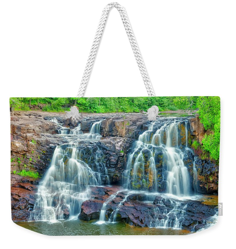 Americas Weekender Tote Bag featuring the photograph Early Morning At The Upper Falls by Roderick Bley