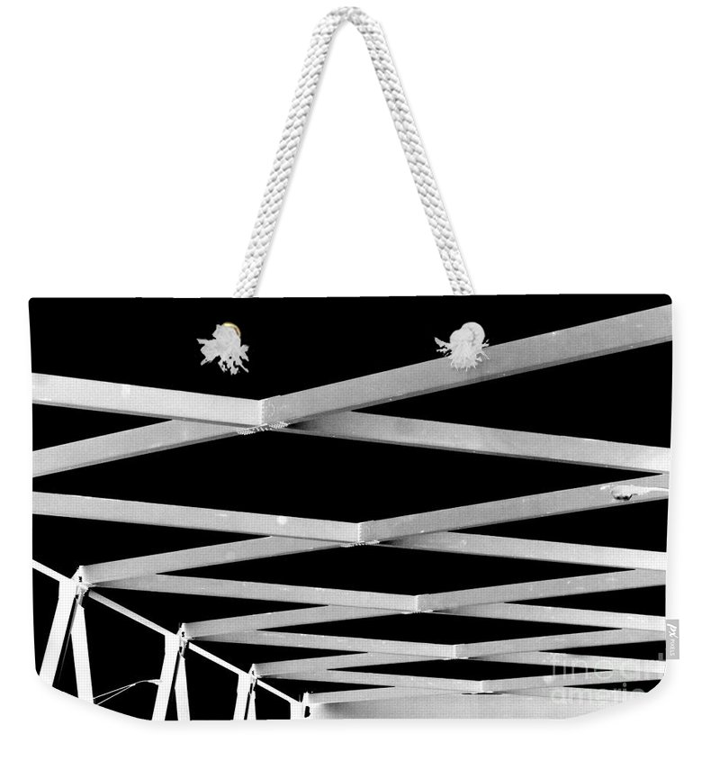 Black Weekender Tote Bag featuring the photograph Exes by Jamie Lynn