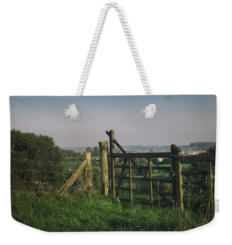 Farm Weekender Tote Bag featuring the photograph Farm Fields In Belgium by TouTouke A Y