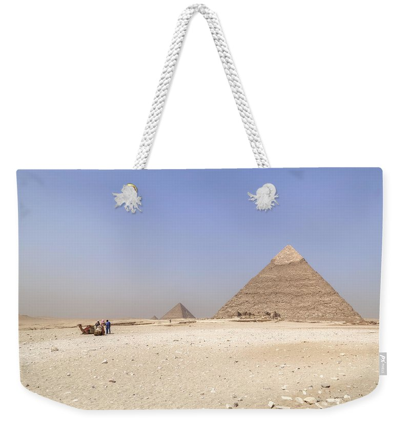 Great Pyramids Of Giza Weekender Tote Bag featuring the photograph Great Pyramids Of Giza - Egypt by Joana Kruse