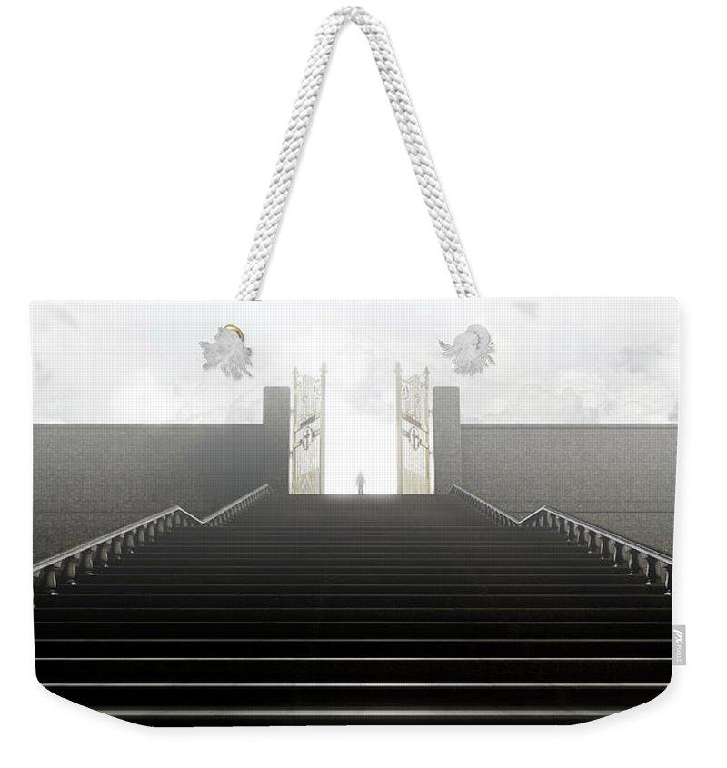Heaven Weekender Tote Bag featuring the digital art Heavens Gates And Silhouette by Allan Swart