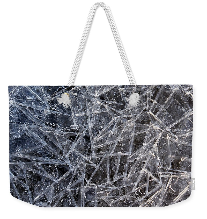 Weekender Tote Bag featuring the photograph 3. Ice Pattern 2, Corbridge by Iain Duncan