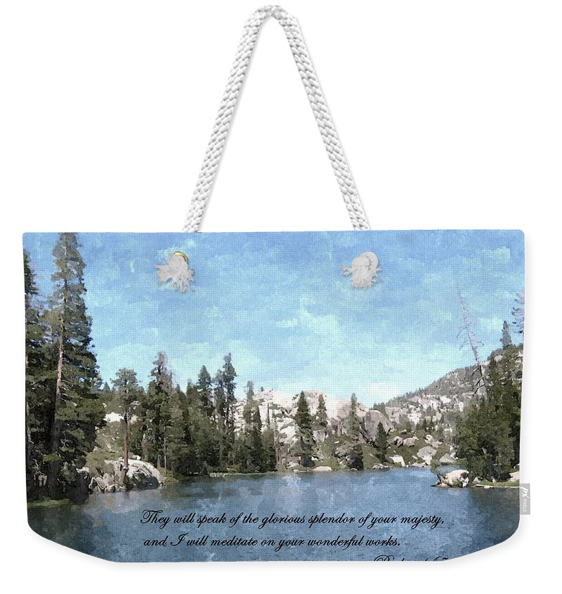 Scripture Weekender Tote Bag featuring the photograph Inspirations 1 by Sara Raber