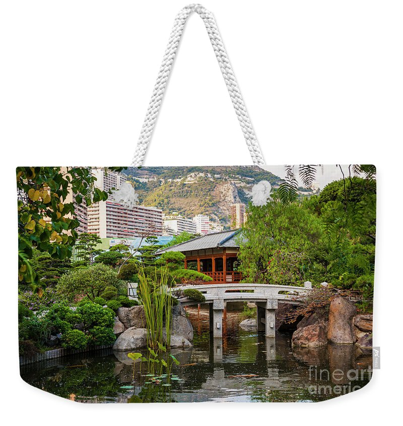 Japanese Garden Weekender Tote Bag featuring the photograph Japanese Garden In Monte Carlo by Elena Elisseeva