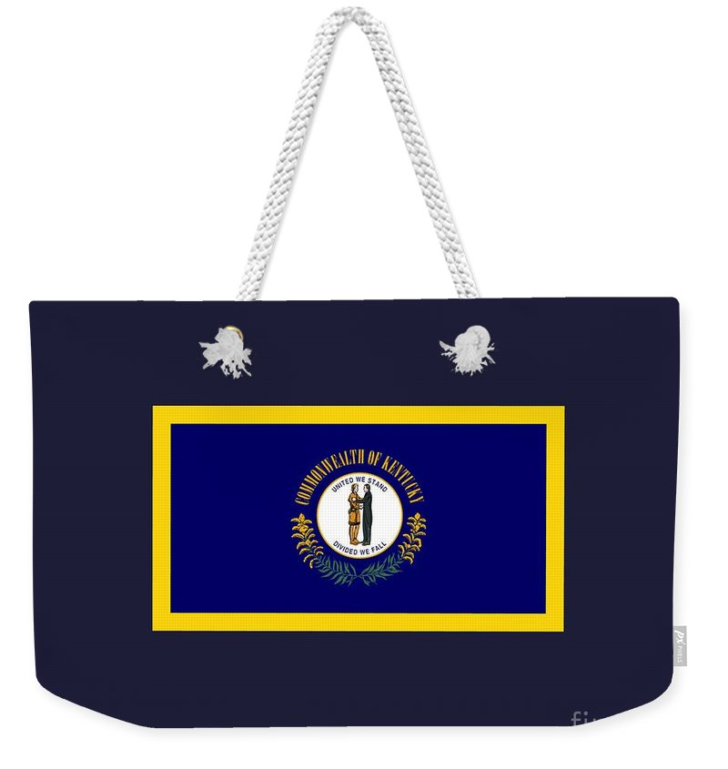 Flag Weekender Tote Bag featuring the digital art Kentucky Flag by Frederick Holiday