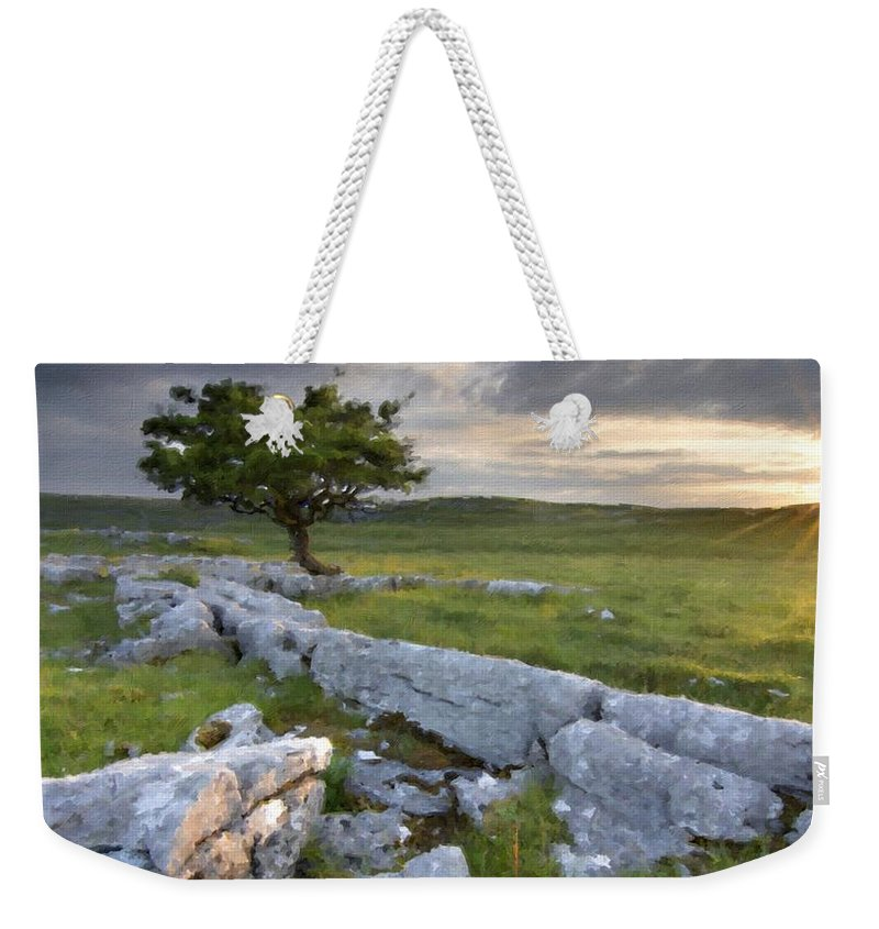 Beautiful Weekender Tote Bag featuring the digital art Landscape By by Usa Map