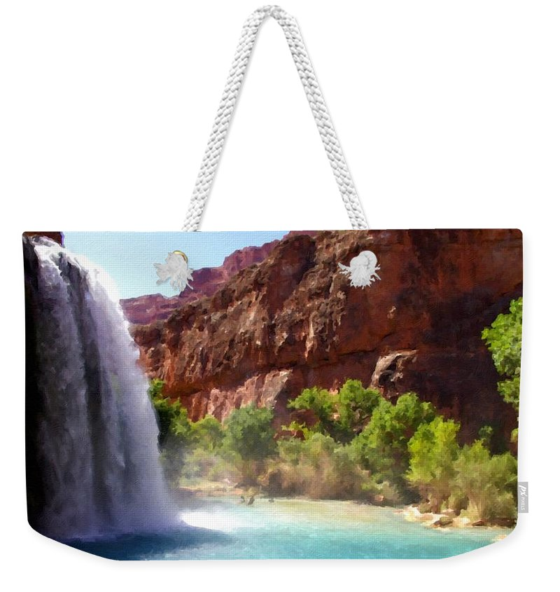 Landscape Weekender Tote Bag featuring the digital art Landscape Pics by Usa Map