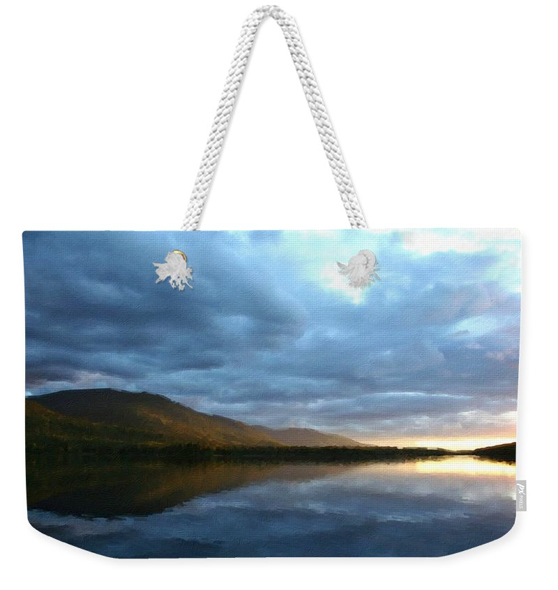 Landscape Weekender Tote Bag featuring the digital art Landscape Portrait by Usa Map