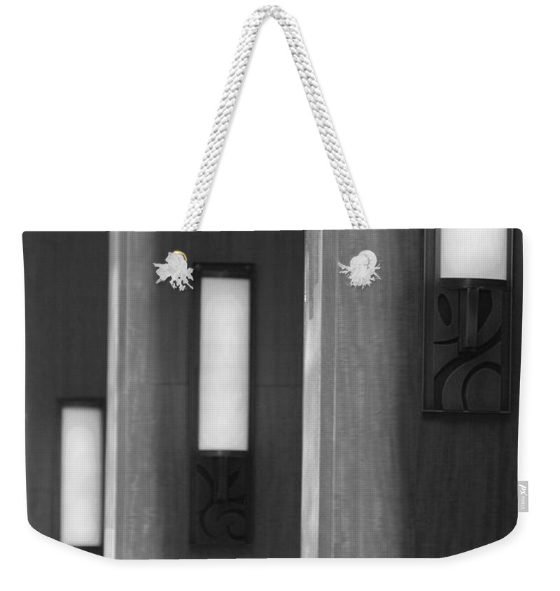 Sconce Weekender Tote Bag featuring the photograph 3 Lighted Wall Sconce by Rob Hans