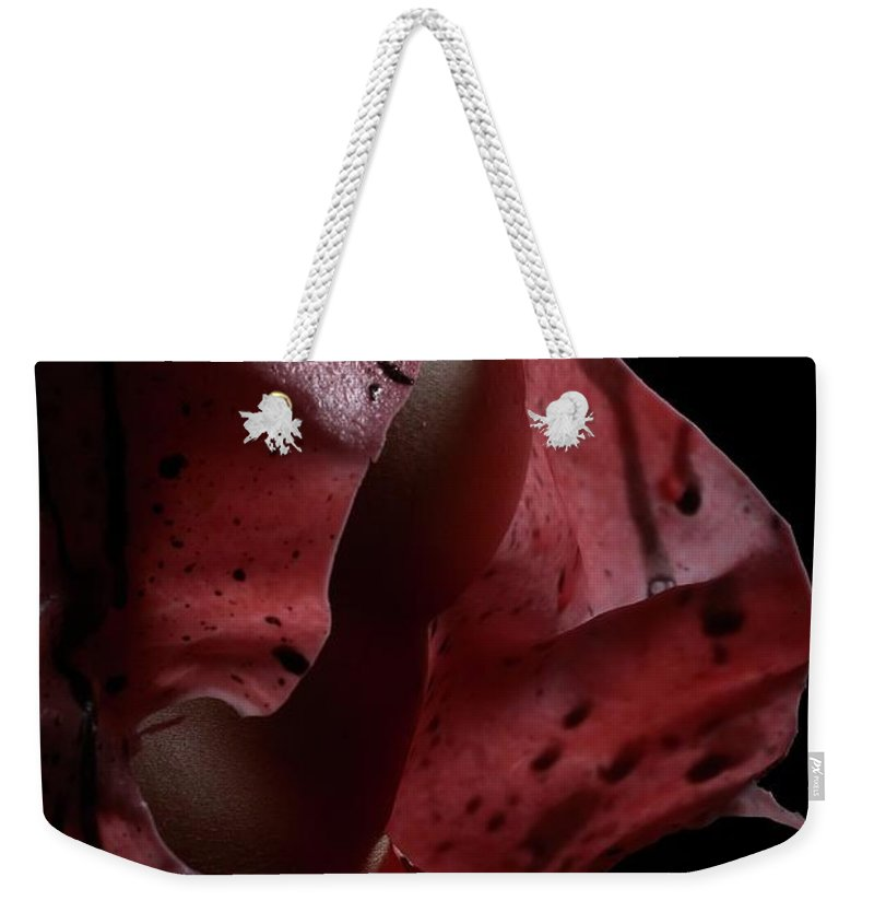Nude Weekender Tote Bag featuring the photograph Liquid Latex 3 by Pavel Jelinek
