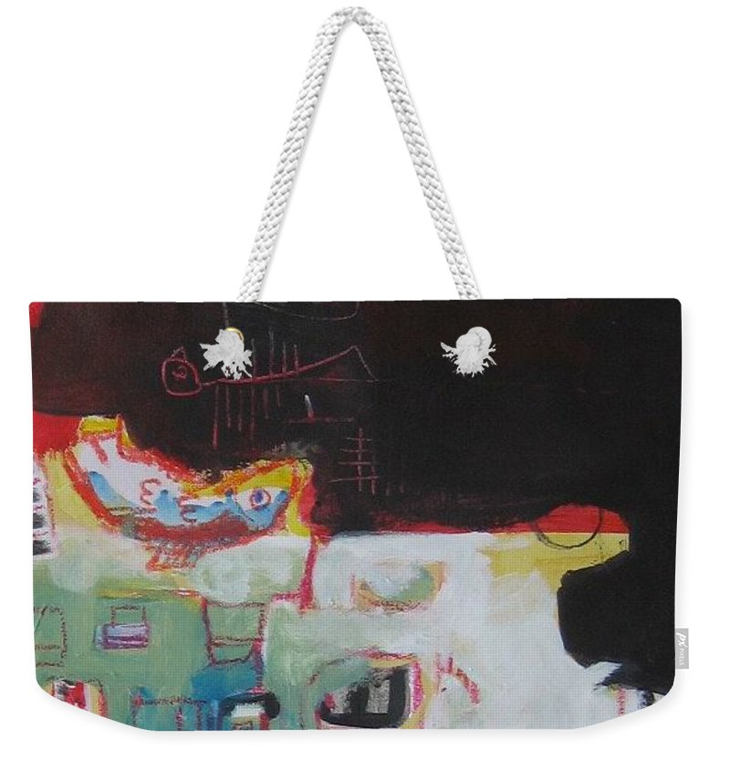 Abstract Paintings Weekender Tote Bag featuring the painting Little Bay by Seon-Jeong Kim