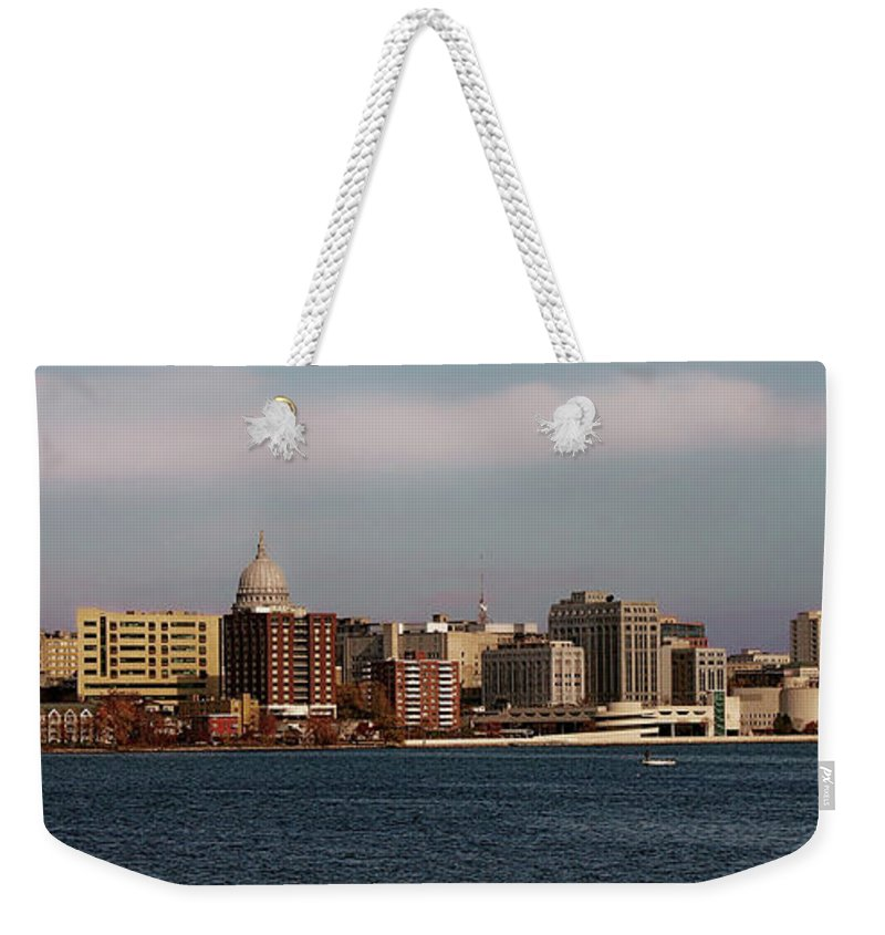 Madison Weekender Tote Bag featuring the photograph Madison Wisconsin by Tommy Anderson