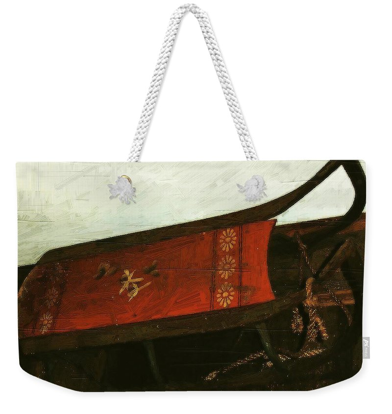 Antique Weekender Tote Bag featuring the painting Mais Ou Sont Les Neiges D'antan by RC DeWinter