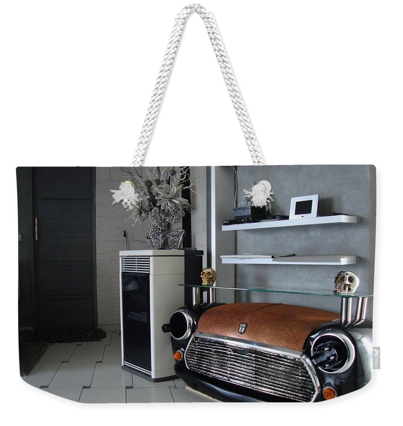 Weekender Tote Bag featuring the sculpture Mini 007 by Rudy Gauthier