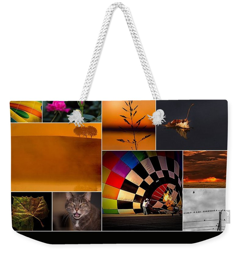 Collage Weekender Tote Bag featuring the photograph Moments In Time by Don Spenner