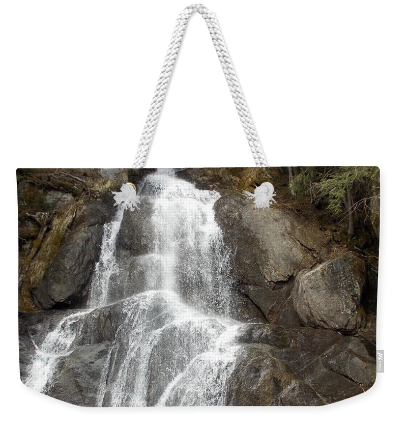 Moss Glen Falls Weekender Tote Bag featuring the photograph Moss Glen Falls by Catherine Gagne