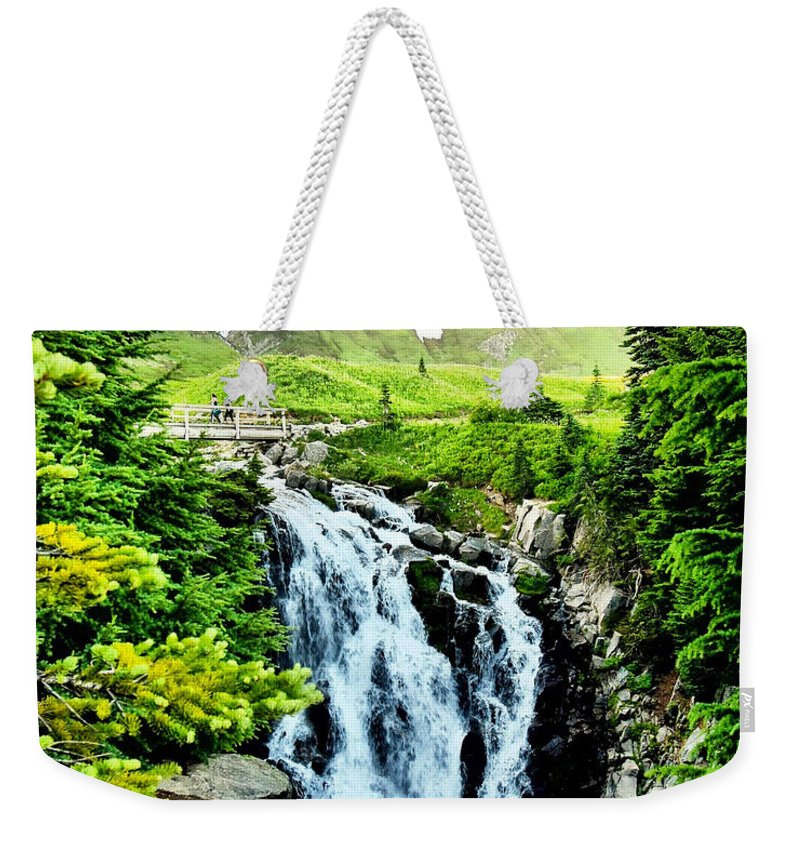 Weekender Tote Bag featuring the photograph Mount Rainier National Park by Brandon Larson