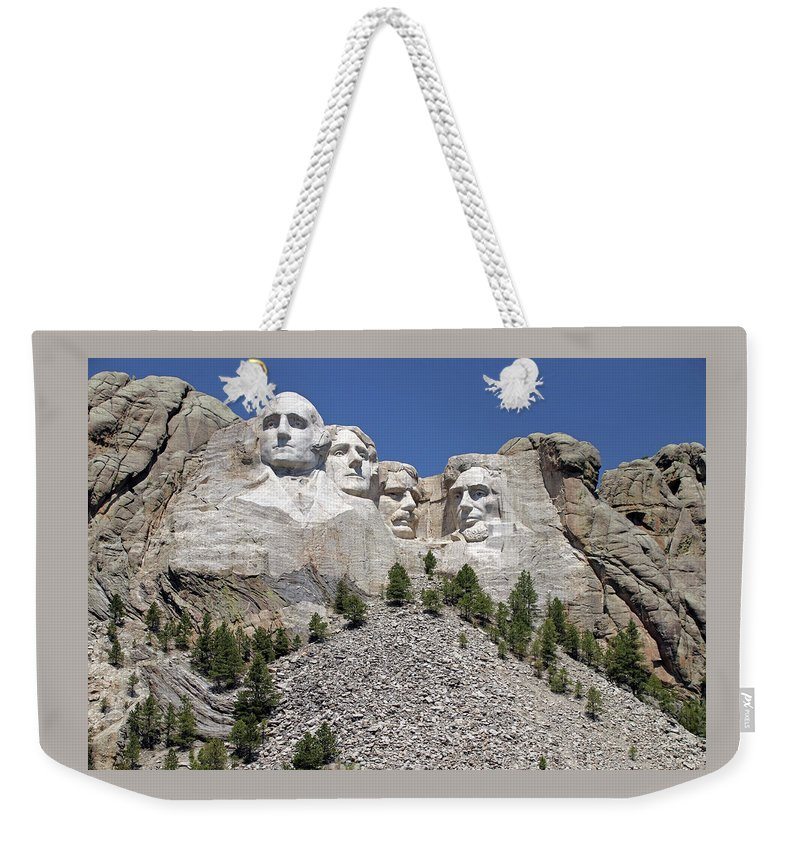 Mount Rushmore Weekender Tote Bag featuring the photograph Mount Rushmore by Ira Marcus