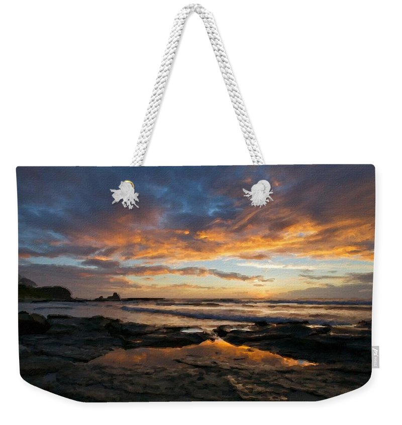 Landscape Weekender Tote Bag featuring the digital art Native Landscape by Usa Map