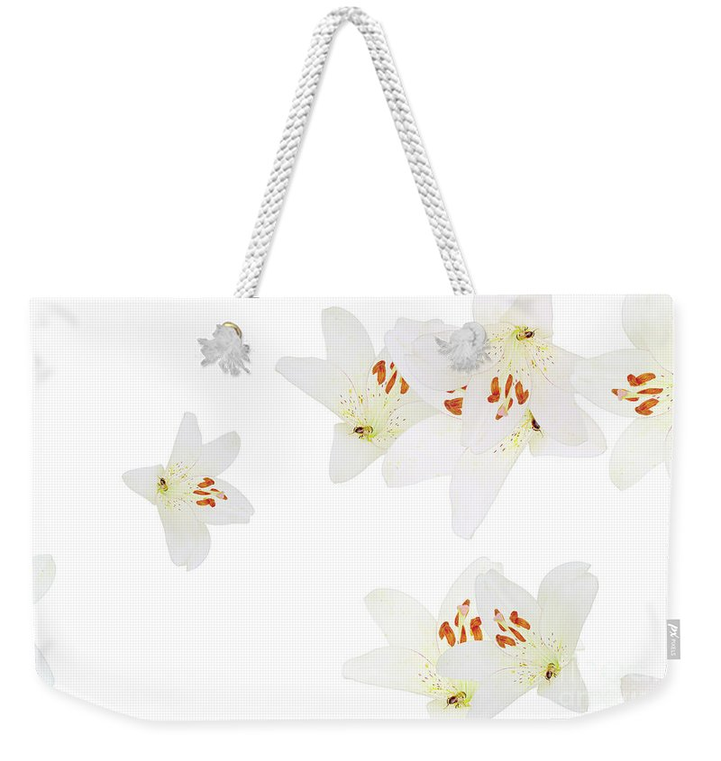 Flowers Weekender Tote Bag featuring the photograph Nice Patterns by Elvira Ladocki