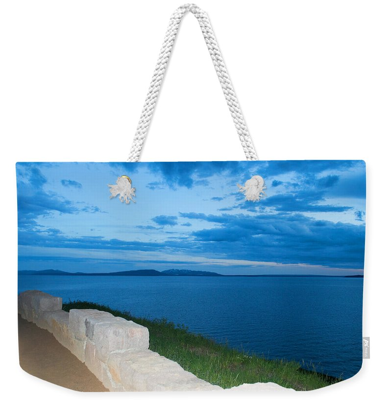 Clouds Weekender Tote Bag featuring the photograph Night Is Near by Linda Kerkau