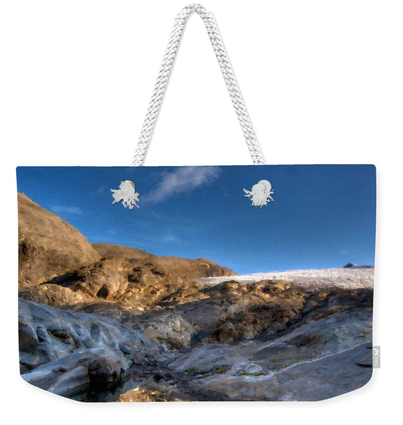 Path Weekender Tote Bag featuring the digital art Oil Painting Landscapes by Usa Map