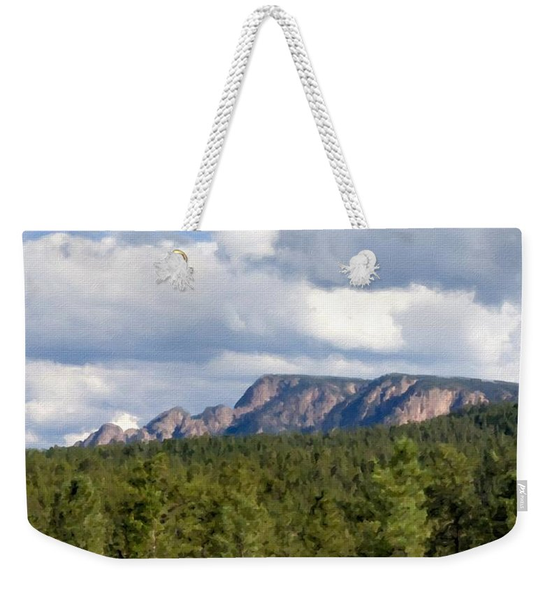 Landscape Weekender Tote Bag featuring the digital art Oil Paintings Art Landscape by Usa Map
