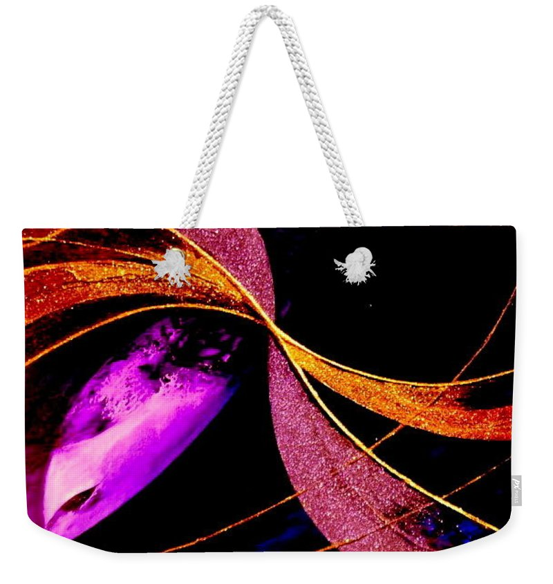 Oneness Weekender Tote Bag featuring the painting Oneness by Kumiko Mayer