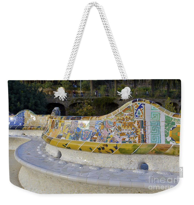 Arc Weekender Tote Bag featuring the photograph Park Guell by Svetlana Sewell