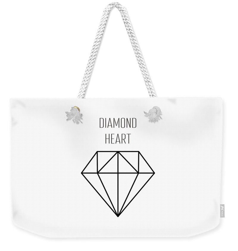 Background Weekender Tote Bag featuring the drawing Pattern With Diamonds by Alina Krysko