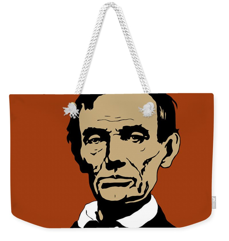 Abraham Lincoln Weekender Tote Bag featuring the mixed media President Lincoln by War Is Hell Store