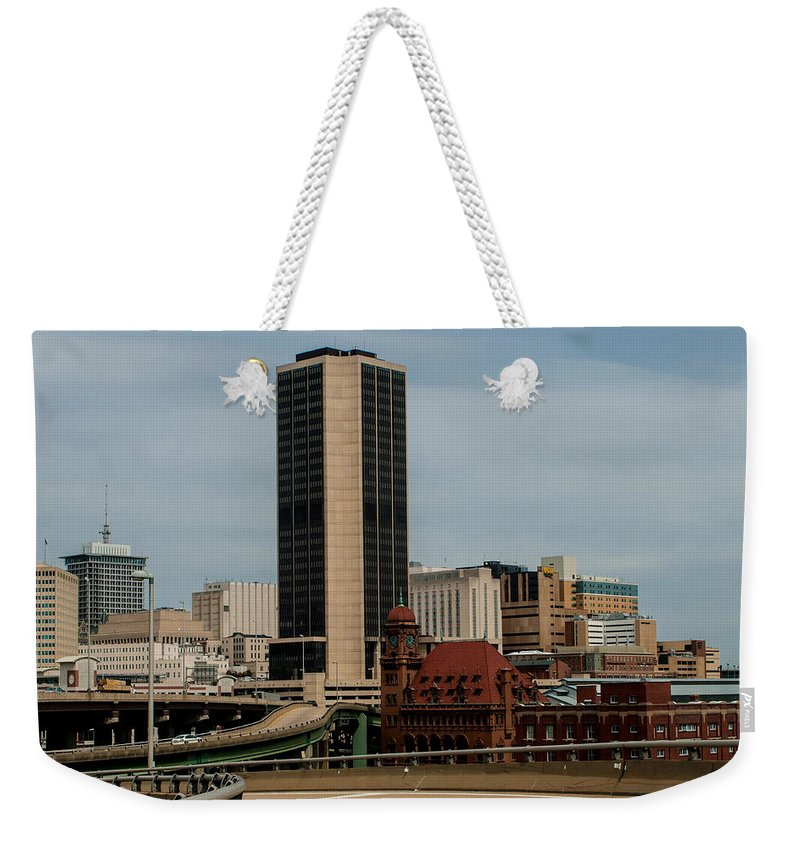 Crowded Weekender Tote Bag featuring the photograph Richmond Virginia Architecture by Alex Grichenko