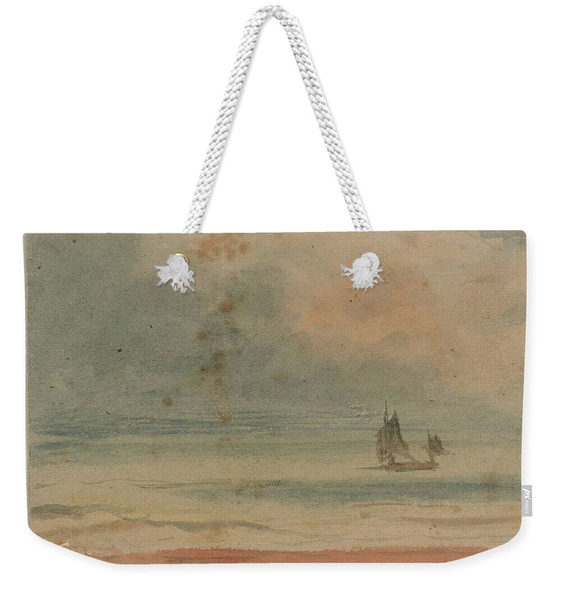 William Henry Hunt 1790�1864 Title Seascape Weekender Tote Bag featuring the painting Seascape by William Henry