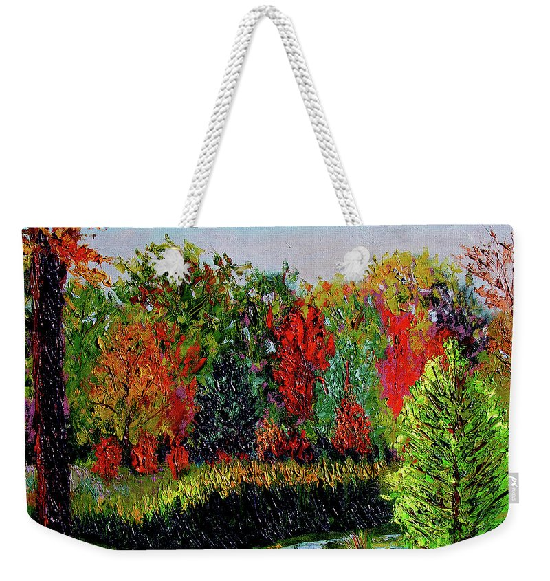 Plein Air Weekender Tote Bag featuring the painting Sewp 10 10 by Stan Hamilton