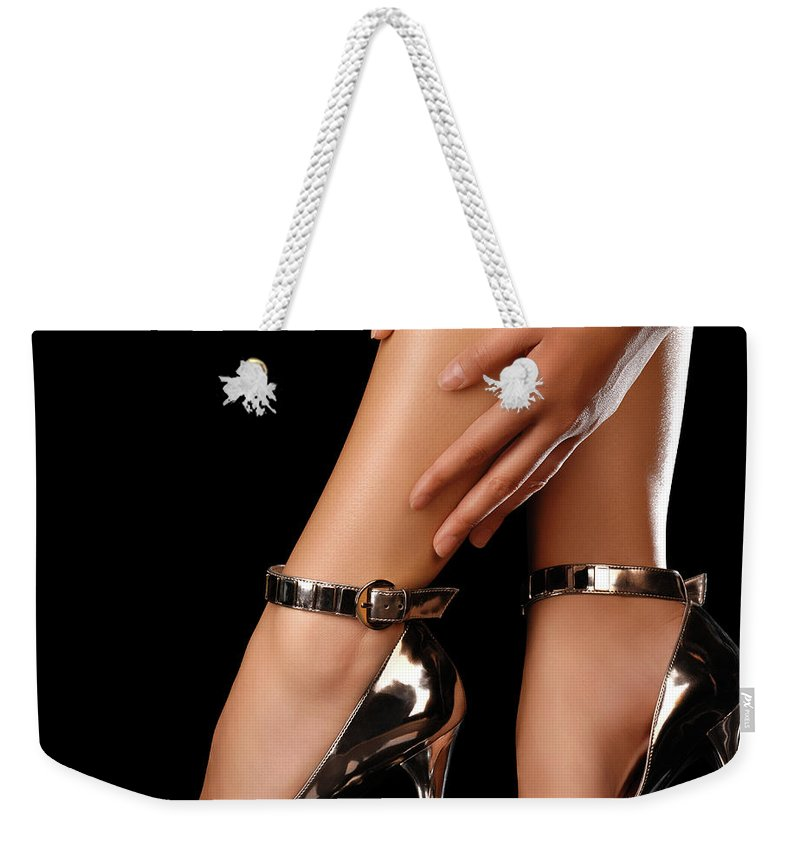 Sexy Weekender Tote Bag featuring the photograph Sexy Shoes by Maxim Images Prints