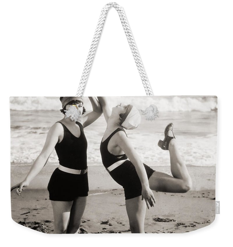 -bathing: Women's Suit & Pool- Weekender Tote Bag featuring the photograph Silent Still: Bathers by Granger