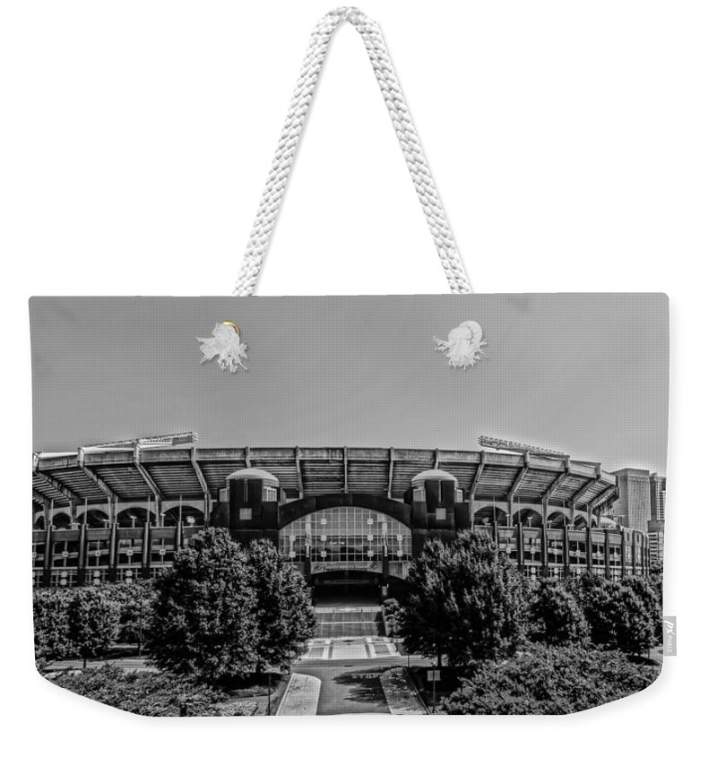 America Weekender Tote Bag featuring the photograph Skyline Of Uptown Charlotte, North Carolina. by Alex Grichenko