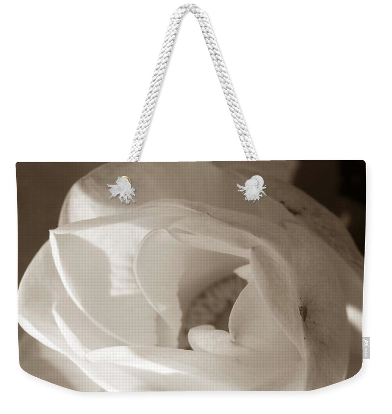 Lotus Weekender Tote Bag featuring the photograph Softly by Amanda Barcon