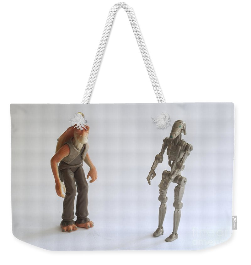 Starwars Weekender Tote Bag featuring the photograph Star Wars Action Figure by Ilan Rosen