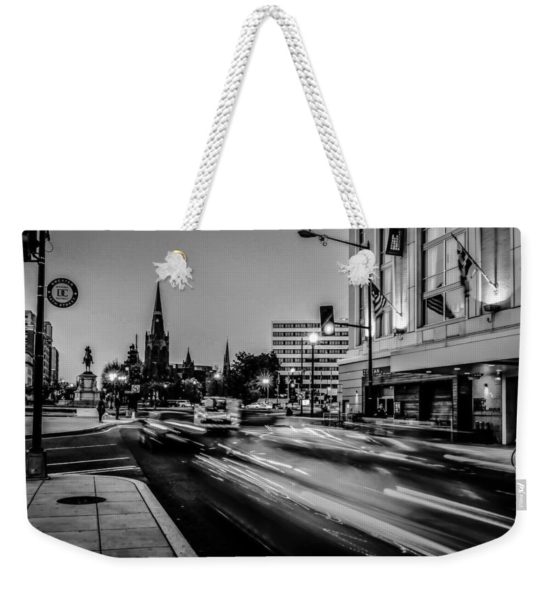 Sidewalk Weekender Tote Bag featuring the photograph Streets Of Washington Dc Usa by Alex Grichenko