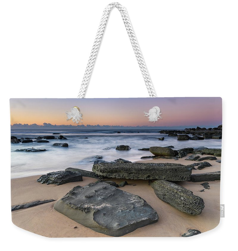 Australia Weekender Tote Bag featuring the photograph Sunrise And The Sea by Merrillie Redden