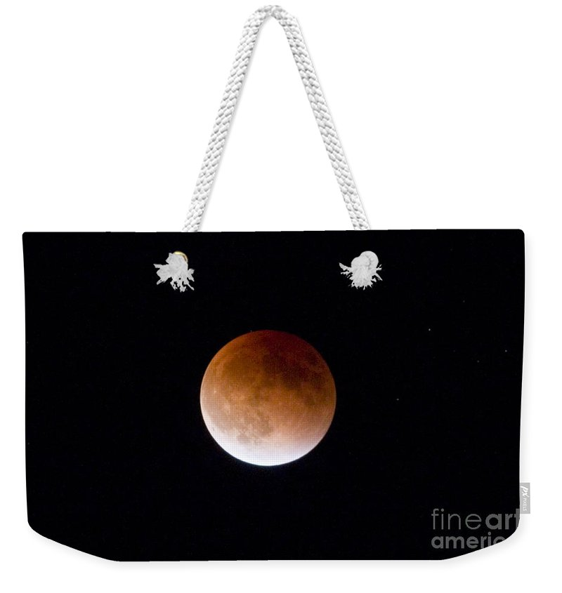 Blood Moon Weekender Tote Bag featuring the photograph Super Blood Moon by Steve Krull