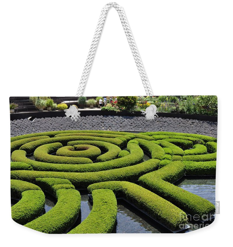 Clay Weekender Tote Bag featuring the photograph The Getty by Clayton Bruster