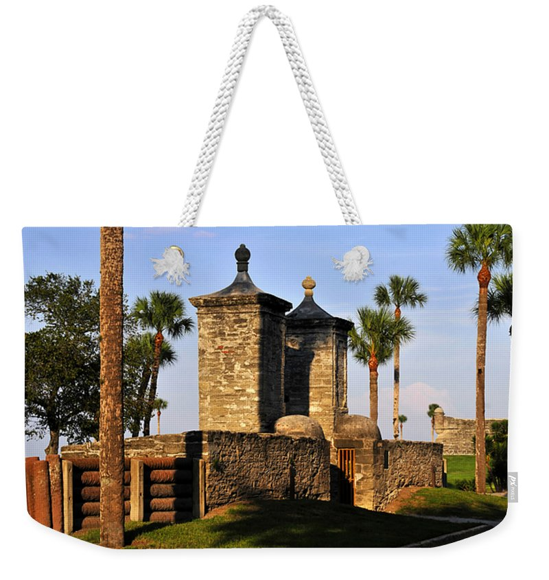 Fine Art Photography Weekender Tote Bag featuring the photograph The Old City Gates by David Lee Thompson