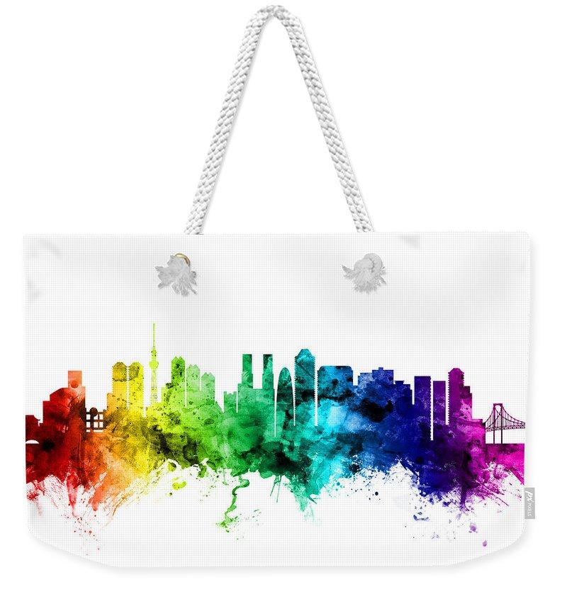 Tokyo Skyline Weekender Tote Bags