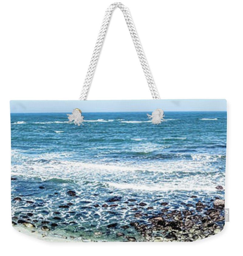 Landscape Weekender Tote Bag featuring the photograph Usa California Pacific Ocean Coast Shoreline by Alex Grichenko