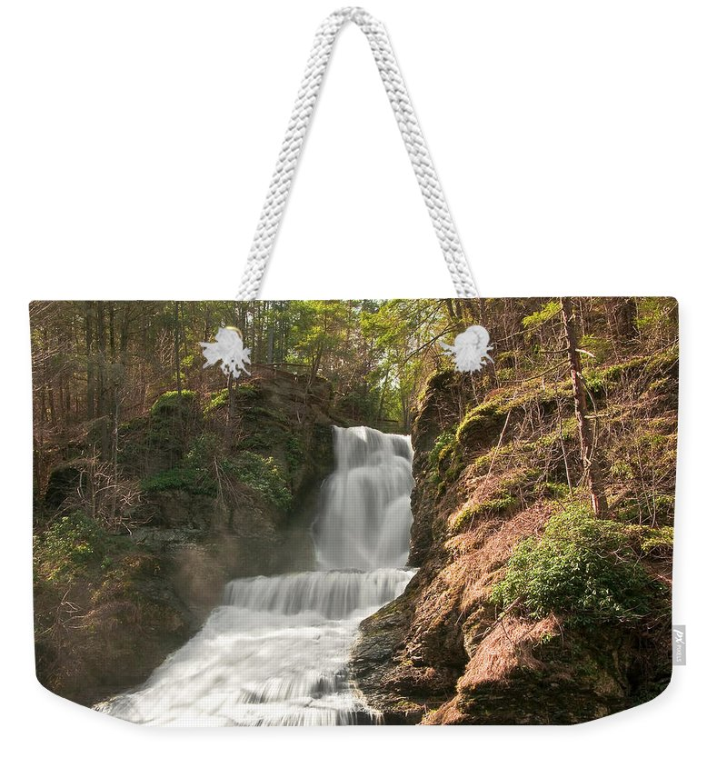 Waterfall Weekender Tote Bag featuring the photograph Waterfall by Svetlana Sewell